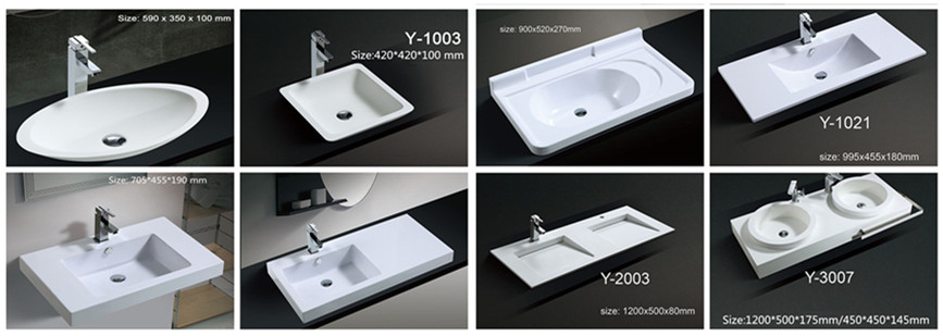 DOMO Solid surface wash basin bathroom sanitary fittings