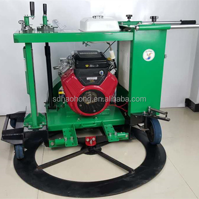 Asphalt and concrete road pavement round well cover cutting machine