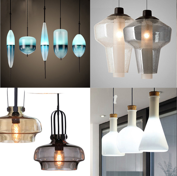Artistic Style Colourful Glass Bubble Flush Mounted Pendant Lamp
