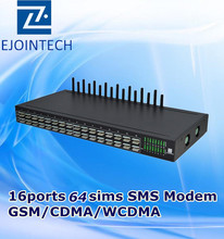 16 channels gateway hardware bulk sms 3g modem rj45 receiving and sending sms messages online