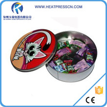 Highh Quality Round Tin Empty Chocolate Gift Box for Sublimation