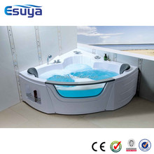 Luxury massage bathtub computer control/thermostatic faucets/air bubble whirlpool bathtub