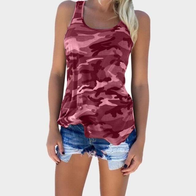 cz39227a-1 Best price premium quality camouflage fashion women tank top