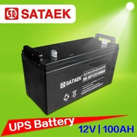 12v100ah Sealed Lead Battery Rechargeable Solar Battery AGM Deep Cycle UPS Battery