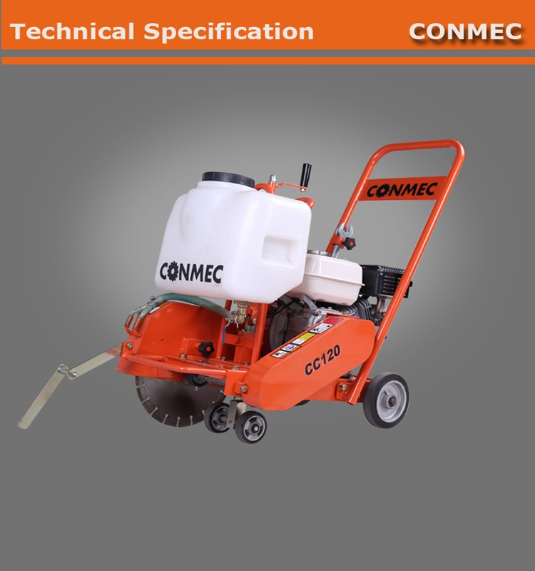"CONMEC 2016 Hot Sale Factory Price Cutting Saw High Quality Conceret Cutter with 12"" blade 3 pieces gates belts"