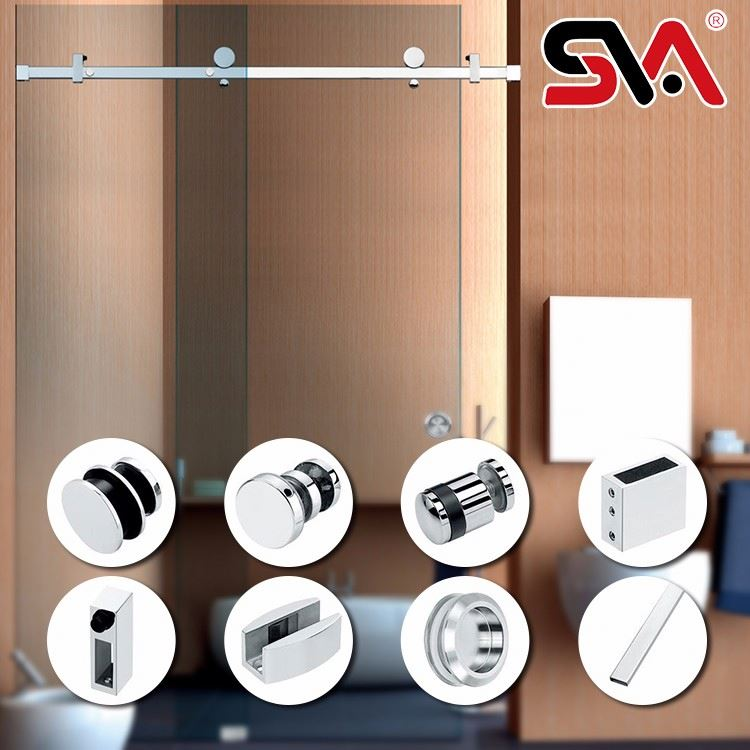 bath room tempered glass shower door,shower door hardware
