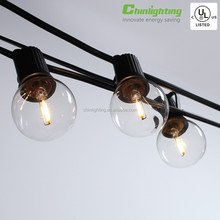 5meter LONG Festoon Party String Light Kit with G40 LED Filament Pear Globes