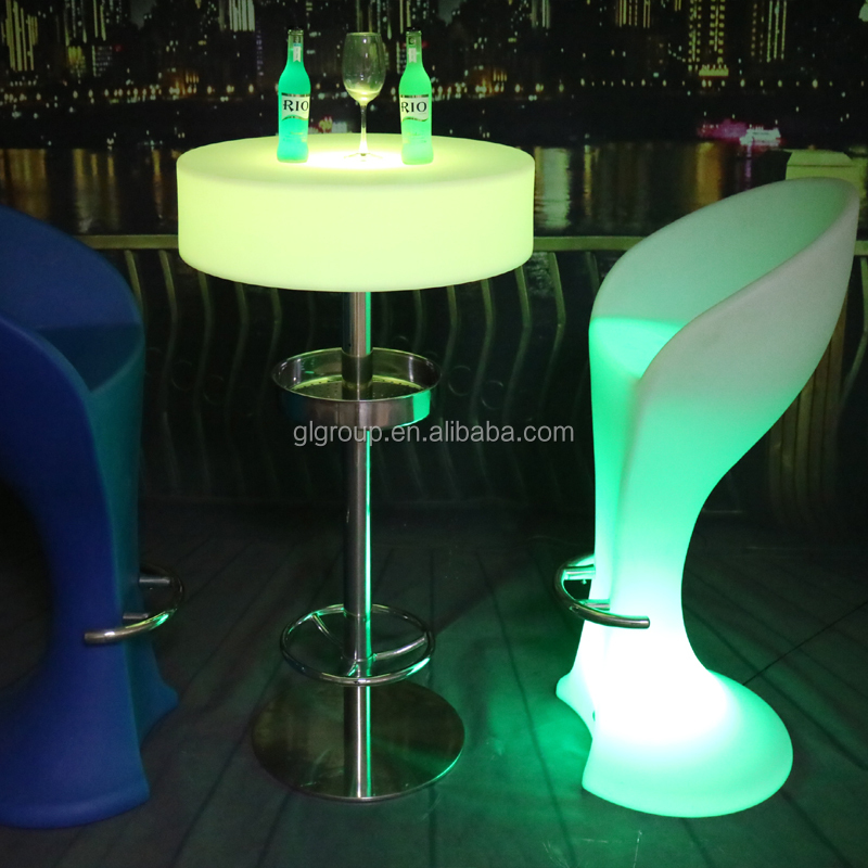 Glowing LED Furniture/ LED modern Coffee Table/ LED Chairs and Tables for Party Events