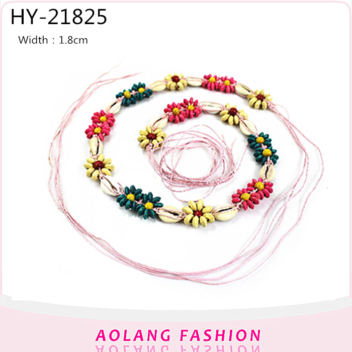 Fashion Western Braided Belt lady waist Colorful Beads weave Belt