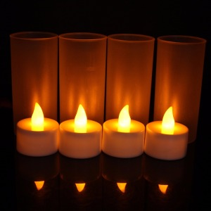 12 Cups Rechargeable LED Candles Flameless Candles Bulk Electronic Candle Table Lamps