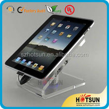 CE ROHS Certification acrylic ipad stand with security alarm