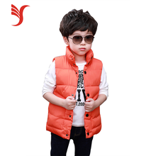 Stock Softshell Sleeveless Cheap Kids Down Jackets Boys