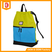 Custom Printing Logo Team School Sports Drawing String Backpack With Handle