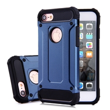 Durable Combo Shockproof Steel 2 in 1 Hybrid Rugged Armor Cover Case for iphone 7
