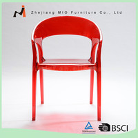 High quality modern plastic PC modern plastic garden chairs
