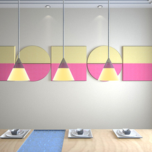 Artistic Dinning Room Wall Decorative Acoustic Treatment