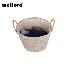 China large wicker rattan laundry storage basket with lid