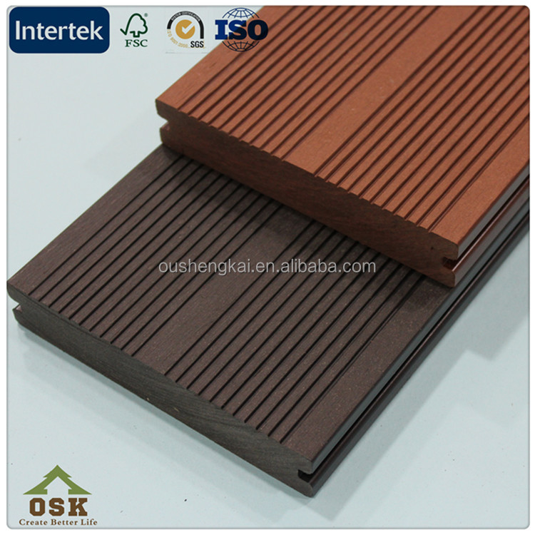 OD-140H-25 wpc solid decking floor wood plastic composite decking flooring