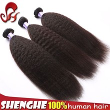 virgin kinky straight human hair bundles tangle free shedding free peruvian wet and wavy hair