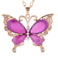 Hot Selling Diamond Butterfly Necklace Sweater Chain Long Section Accessories