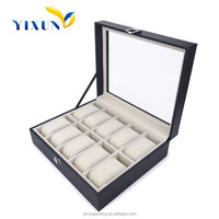 Factory cheap price wholesale 6 10 12 20 slots leather wooden watch gift watch storage box