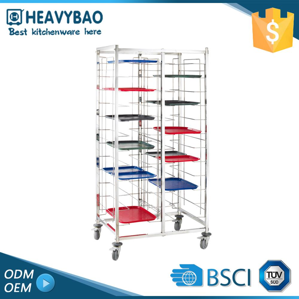 Heavybao Stainless Steel Knocked-down Outdoor Food Trolley Hospital Kitchen Vegetable Cart