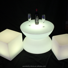 Remote control led low bar table illuminated glowing coffee led light table