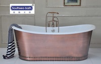 Copper Baths/Cast Iron big Tub with Copper skirt