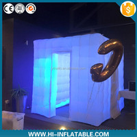 Best-sale led light inflatable balloon photo booth for halloween