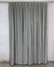 Quality velvet hotel curtain with blackout fabric lined 250%fullness