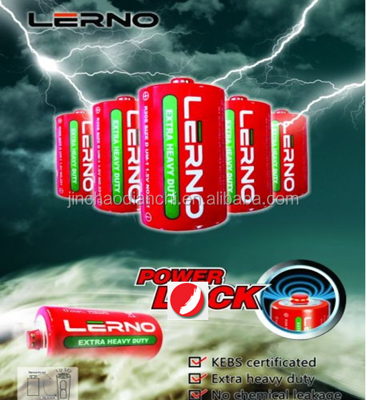size d dry cell battery 1.5v R20 tiger battery