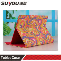smart cover pu leather case tablet for ipad2/3/4 with folded bracket