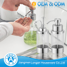 Factory OEM&ODM free sample kitchen Accessories sink 304 stainless steel liquid hand soap dispenser