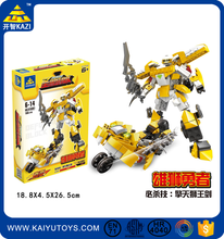 KAZI building blocks robot figures similar lepin building brick transform robot education toy