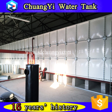 insulated and uninsulated square modular bolted frp tank, frp fish farming water tank for water treatment