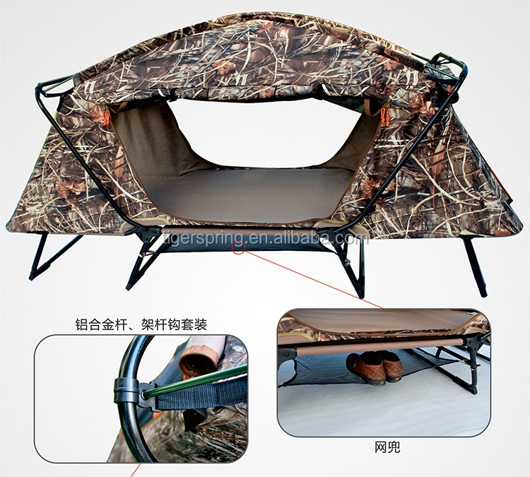 Portable heavy duty camping tent with bed
