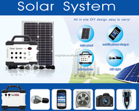 wholesale unique mini portable solar power system for home with mobile charging,Radio,MP3, smart lighting kits, solar kits