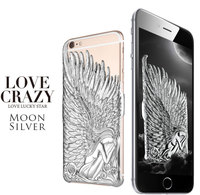 Best Luxury 3D Angel Wings Carved Embossed Artwork Case Cell Phone cases For iPhone6 6S 6 Plus