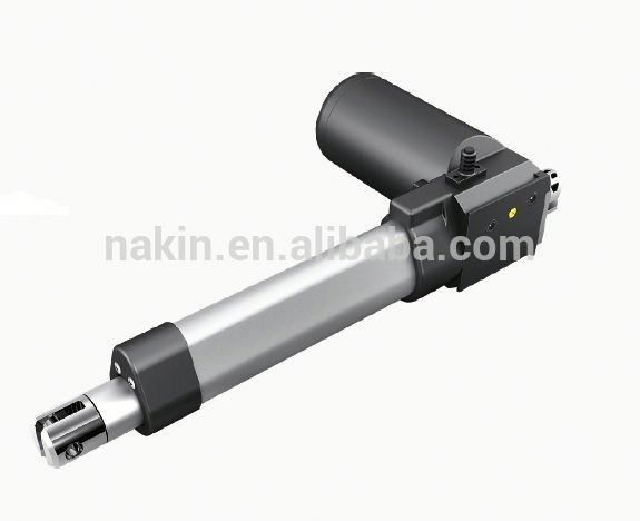 compact structure good material linear actuator with black dc motor