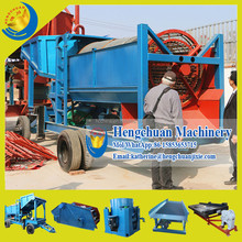 China Compleste Set Alluvial Placer Mobile Gold Sand Gravity Separator Machine for Sale
