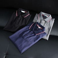 Long sleeve great quality 100% cotton polo t-shirt