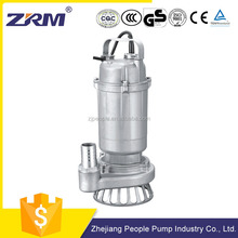 electric single phase 220v 50hz stainless steel impeller submersible sand pump