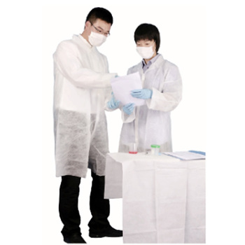 Disposable elastic cuffs visitor gown with adsorption ability