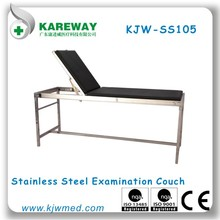 Stainless steel examination couch,clinic bed,medical bed equipment