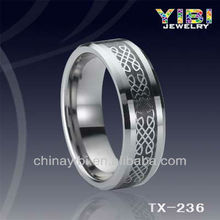 natural decoration tungsten ring aquamarine mens designer finger rings china high quality jewelry