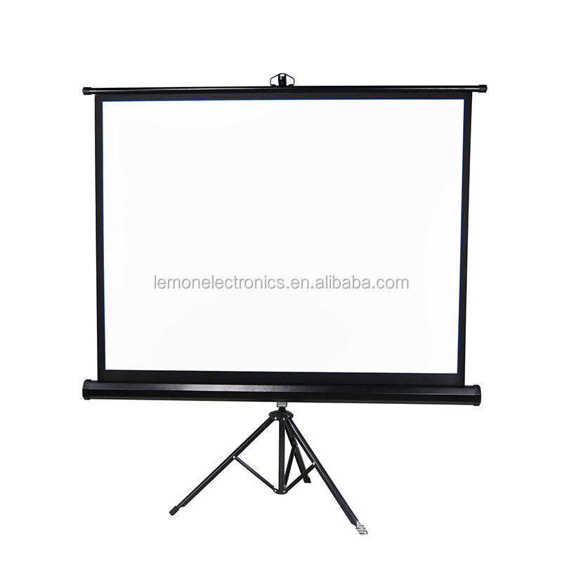 Foldable/folding floor standing tripod projector projection screen