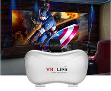 2016 Most popular OEM accepted factory wholesale 3d vr life vr case glasses for game and 3D movie