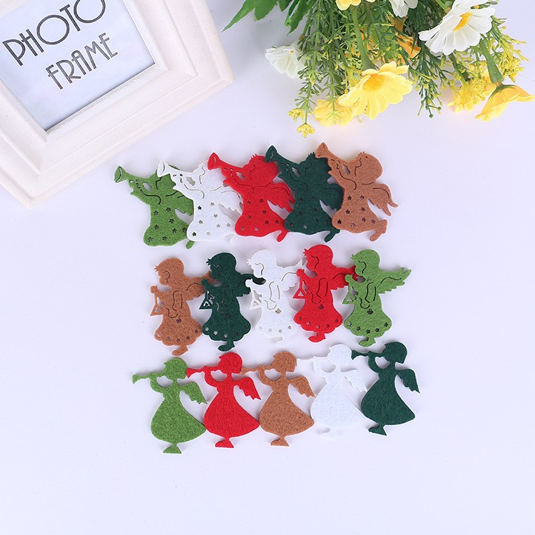 Woolen polyester felt Christmas tree snowflake decoration