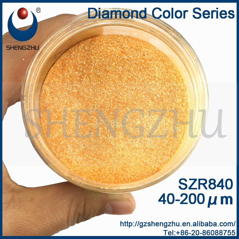 Borosilicate Glass Powder, Diamond Series Pearl Pigments Orange