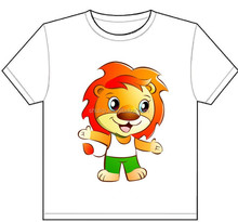 kids plain white t shirts cartoon anime character pattern printing design